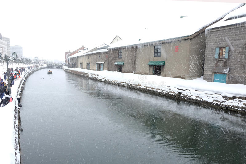 HOKKAIDO, JAPAN - 20. JANUAR: Nicht identifizierter Besucherblick auf lizenzfreie stockfotografie