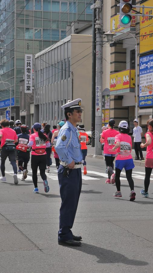 Hokkaido Sapporro Japan 20th of August 2017 Marathon Runners from all over the world gathering at the International event. Shot of Hokkaido Sapporro Japan 20th royalty free stock images