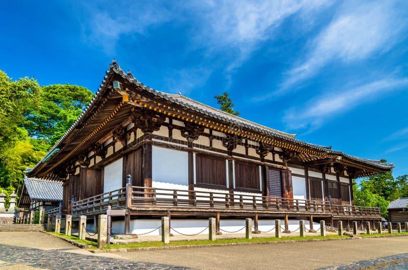 Hokke-делает зала виска Todai-ji в Nara стоковые изображения