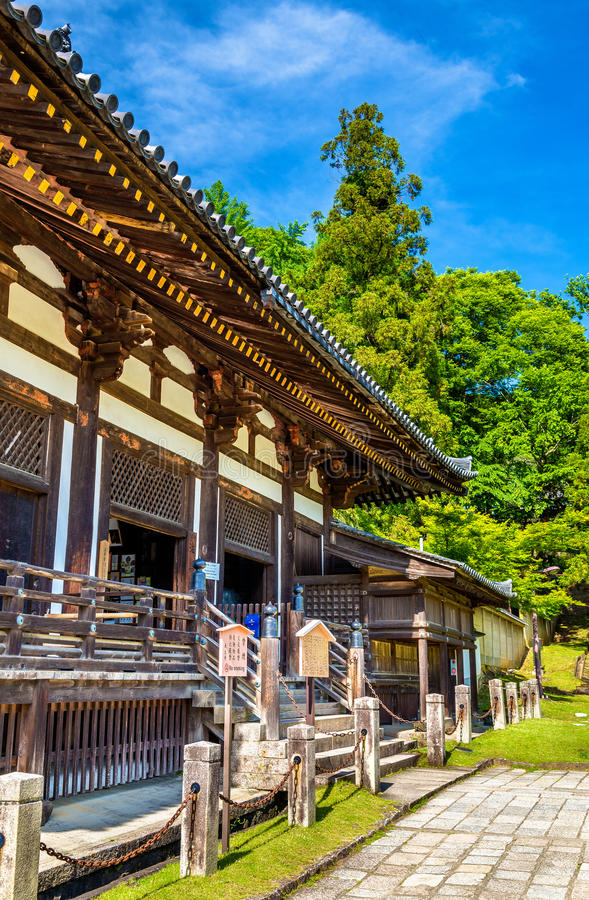 Hokke-doe zaal van tempel Todai -todai-ji in Nara stock afbeeldingen