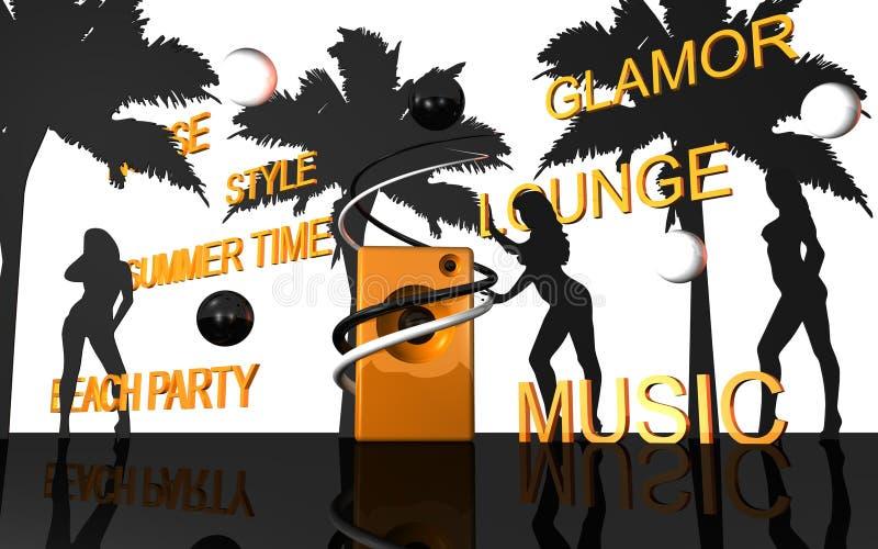 hol muzyka royalty ilustracja