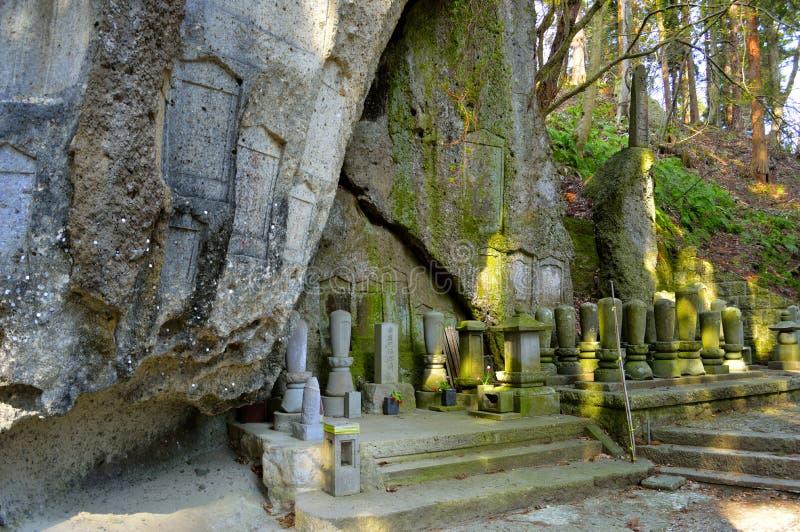 Hol van Amitabha van Risshaku -risshaku-ji - Yamadera royalty-vrije stock foto