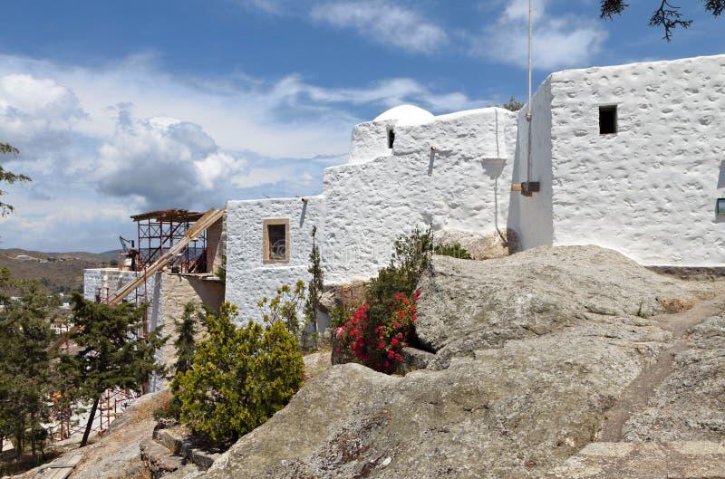 Hol van Apocalyps bij Patmos-eiland, Griekenland stock afbeeldingen