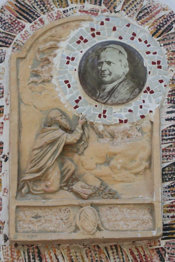 Hol van Revelatie bij de Drie Fonteinen in Rome stock foto