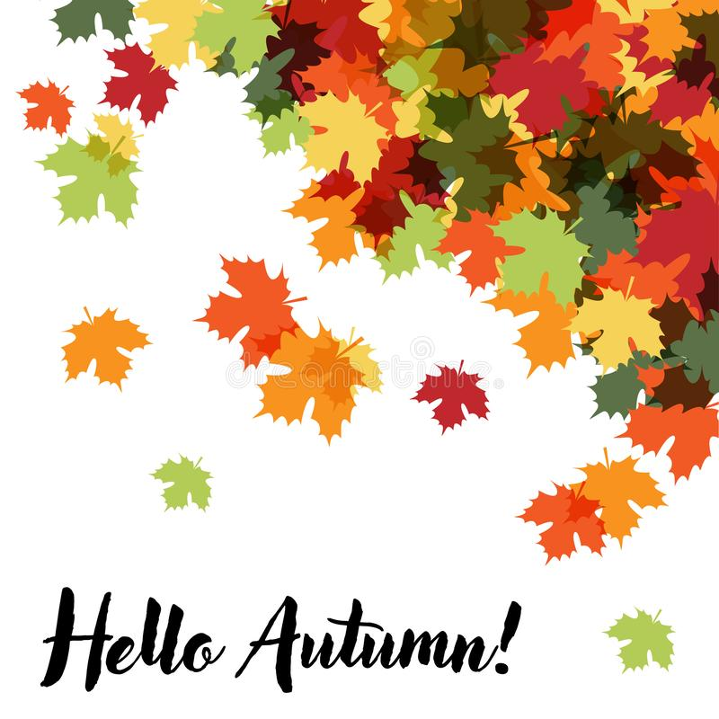 Hola Autumn Beautiful Decorative Background stock de ilustración