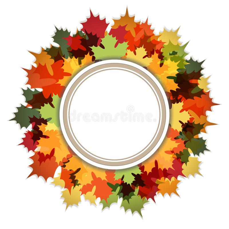 Hola Autumn Decorative Ring Frame ilustración del vector