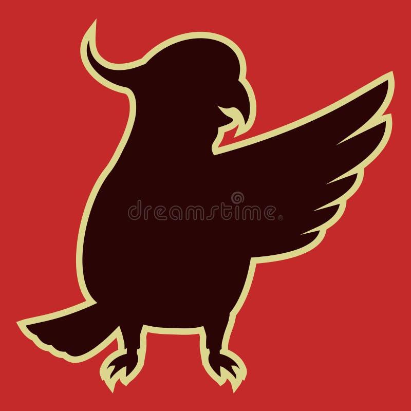 Hola cockatoo ilustración del vector