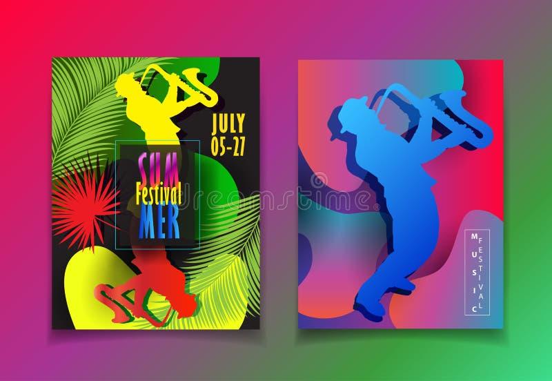 Hola el cartel del verano embroma la muestra tropical del viaje stock de ilustración