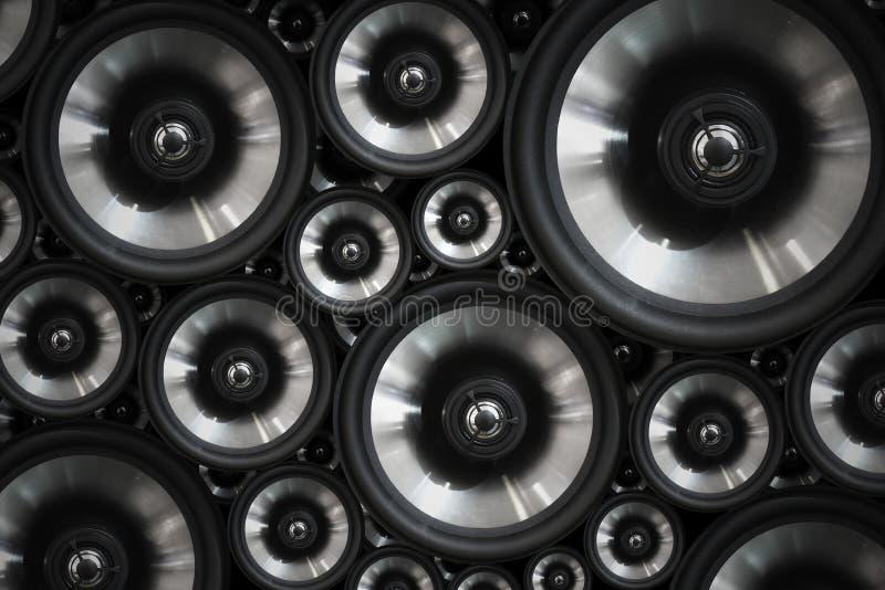 Hola fondo audio de los altavoces del sonido del sistema estéreo del fi foto de archivo libre de regalías