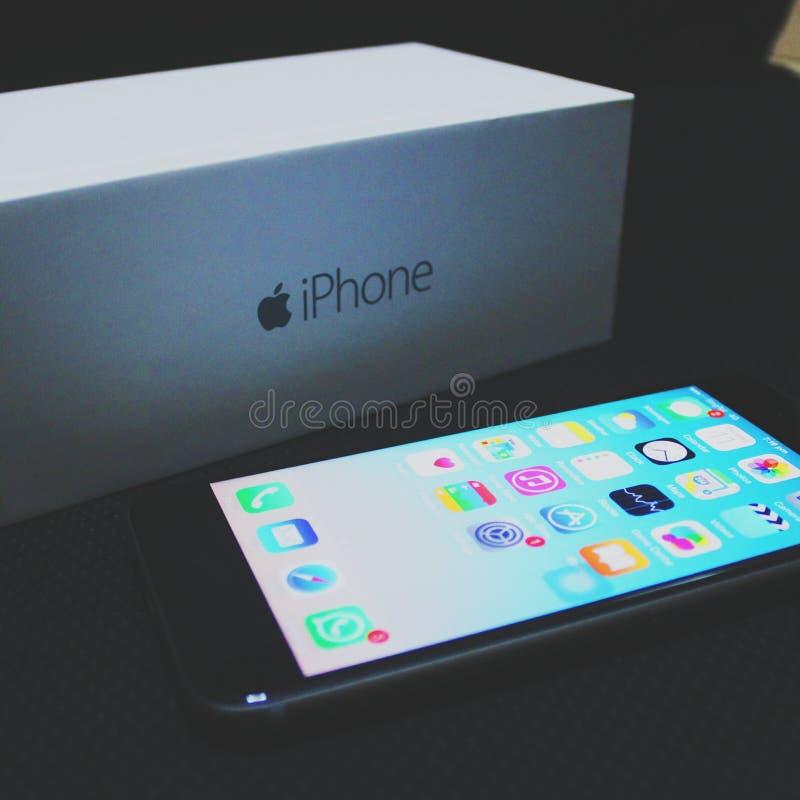 ¡Hola Iphone 6! imagen de archivo libre de regalías