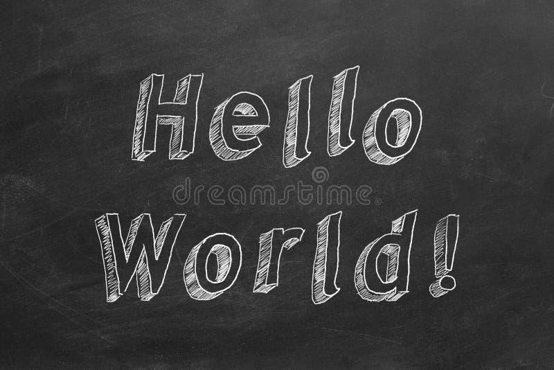 Hola mundo ilustración del vector