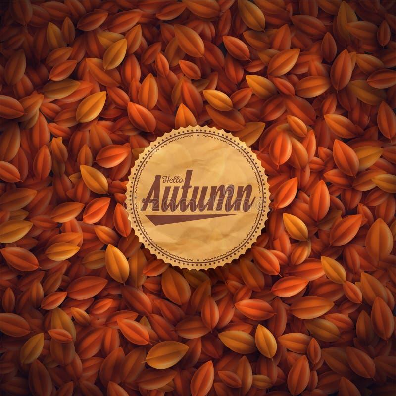 Hola otoño stock de ilustración