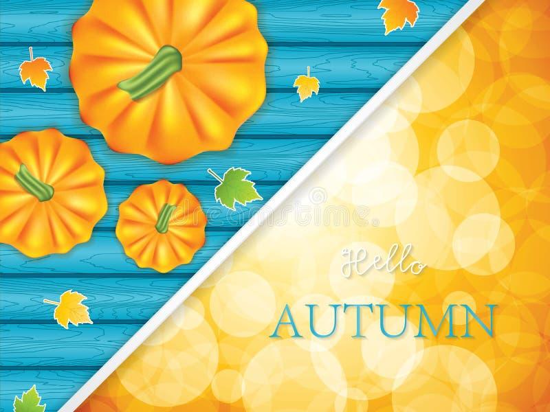 Hola otoño libre illustration