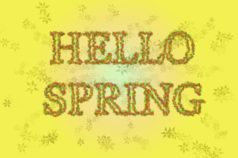 Hola primavera libre illustration
