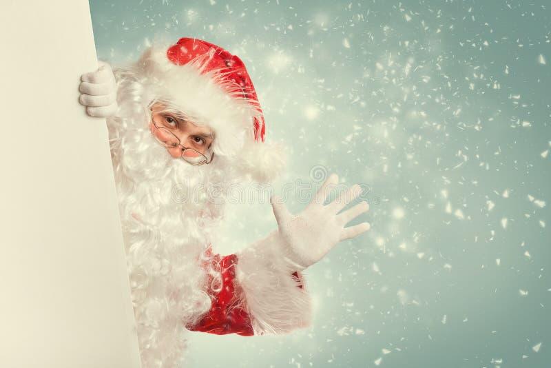 Hola que agita de Santa Claus fotografía de archivo