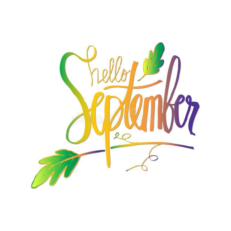 Hola septiembre libre illustration