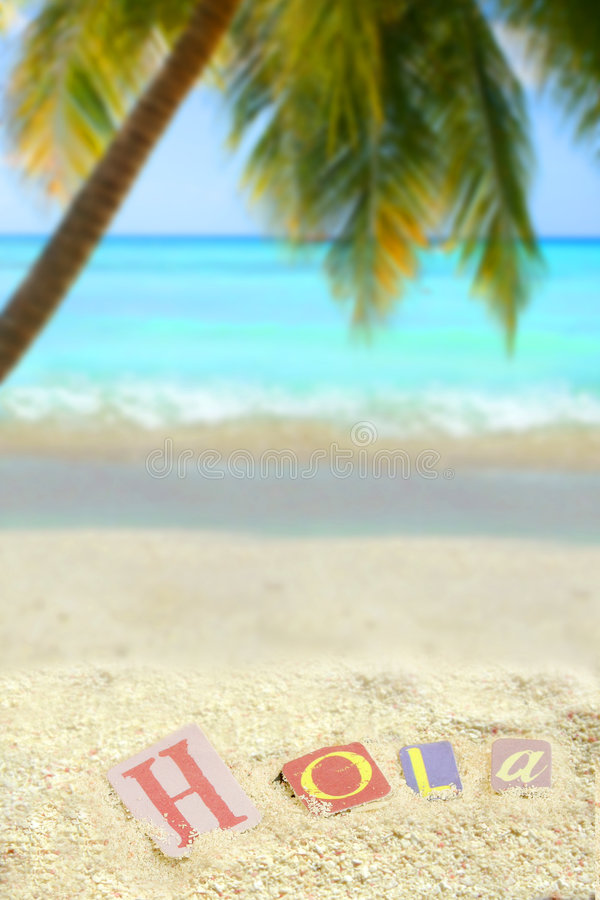 Hola tropical photos libres de droits