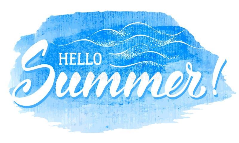 Hola verano libre illustration