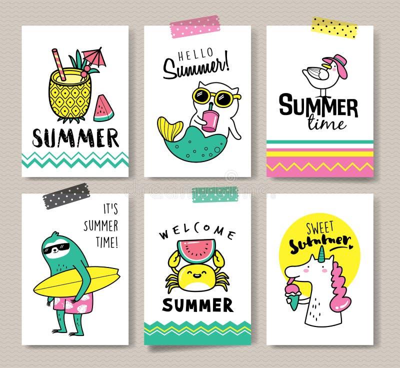 Hola verano ilustración del vector