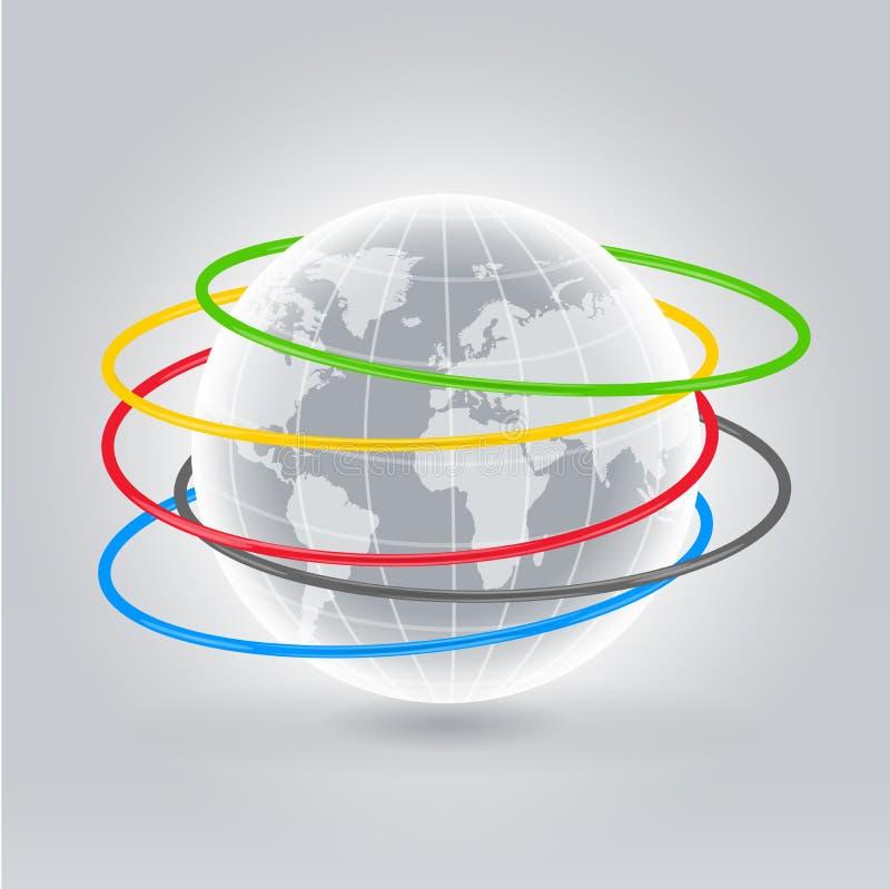 Holahoepels van de wereld vector illustratie