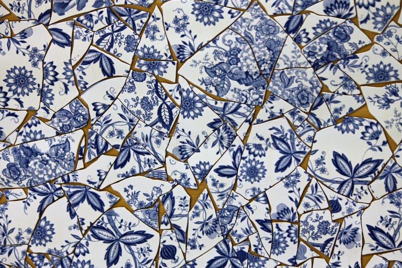 Holanda do azul das louças de Delft fotos de stock