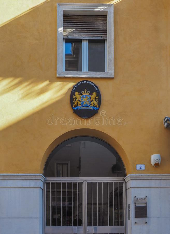Holandia konsulat w Verona fotografia stock