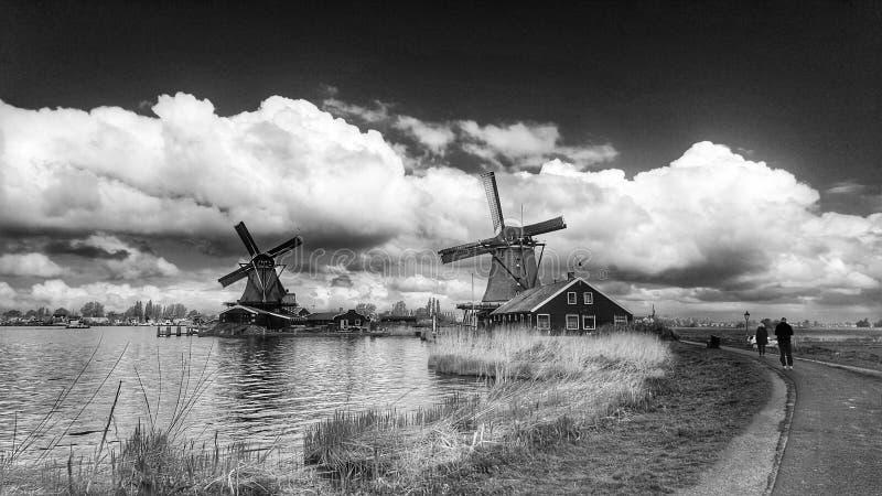 Holandia wiatrowy młyn fotografia royalty free