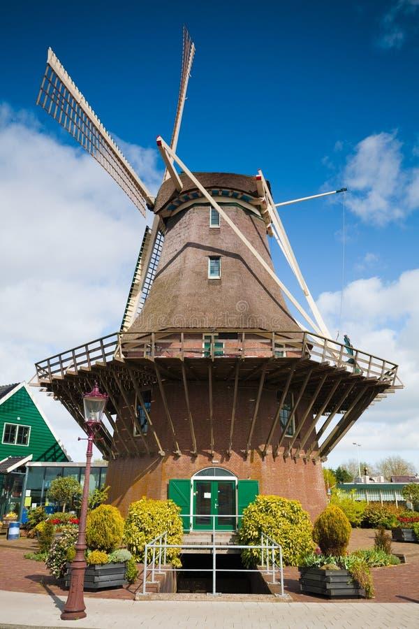 holandie sloten wiatraczek obraz stock