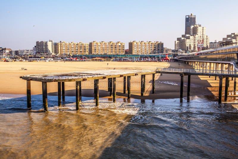 Holandii molo & x28; haga - północny sea& x29; obraz royalty free