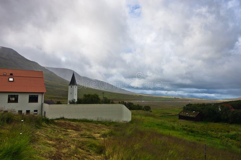 Holar主教管区和第一所大学,著名地方在冰岛 库存图片