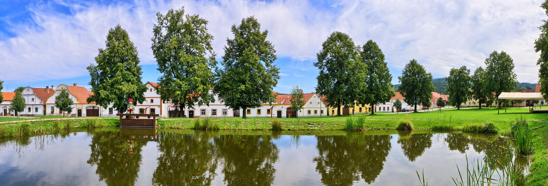 Holasovice dans la République Tchèque - village sur la liste d'héritage de l'UNESCO images libres de droits