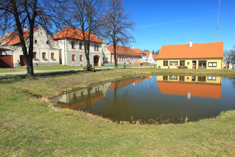 Holasovice - héritage de site du monde de l'UNESCO images libres de droits