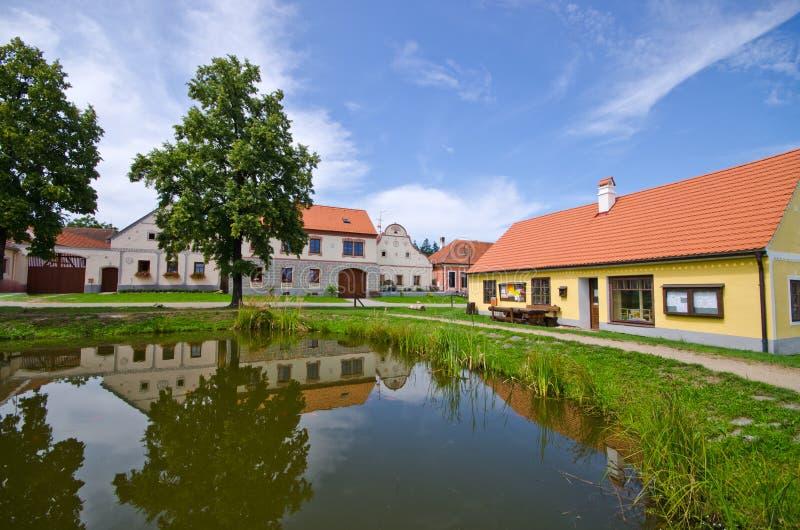Holasovice i Tjeckien - by på UNESCOarvlista arkivbild