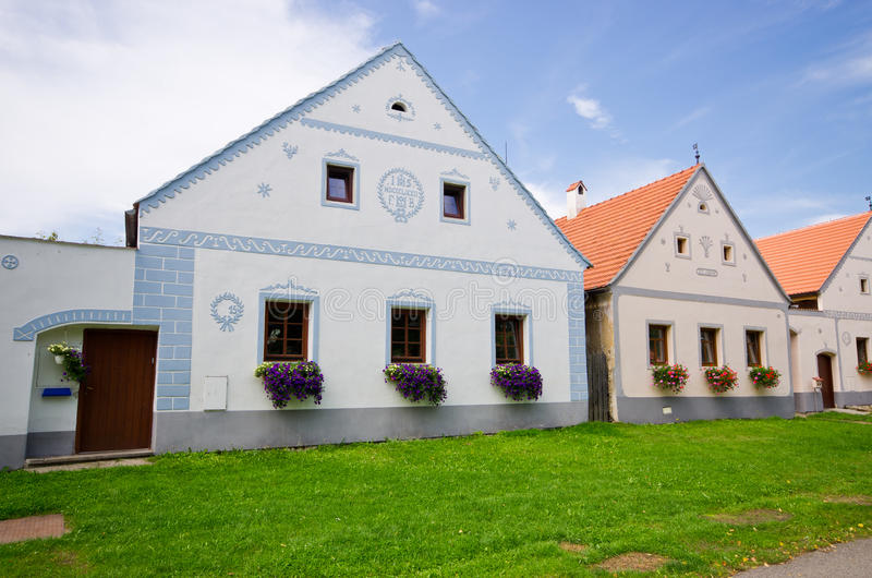 Holasovice - old Bohemian village on UNESCO heritage list stock image