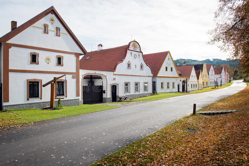 Holasovice - rural vilage in Czech Republic stock photography