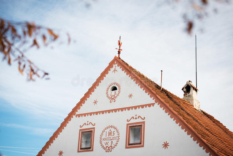 Holasovice - rural vilage in Czech Republic royalty free stock images
