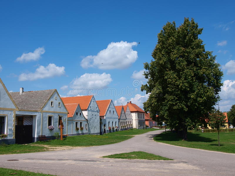 Holasovice tjeckisk republik royaltyfria bilder