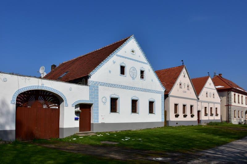 Holasovice UNESCO protected village stock image