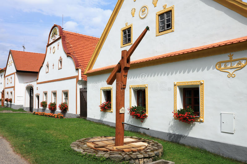 Holasovice - UNESCO village Folk Baroque stock photography