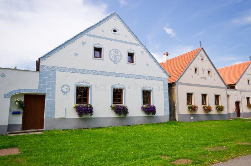 Holasovice - vieux village de Bohème sur la liste d'héritage de l'UNESCO image stock