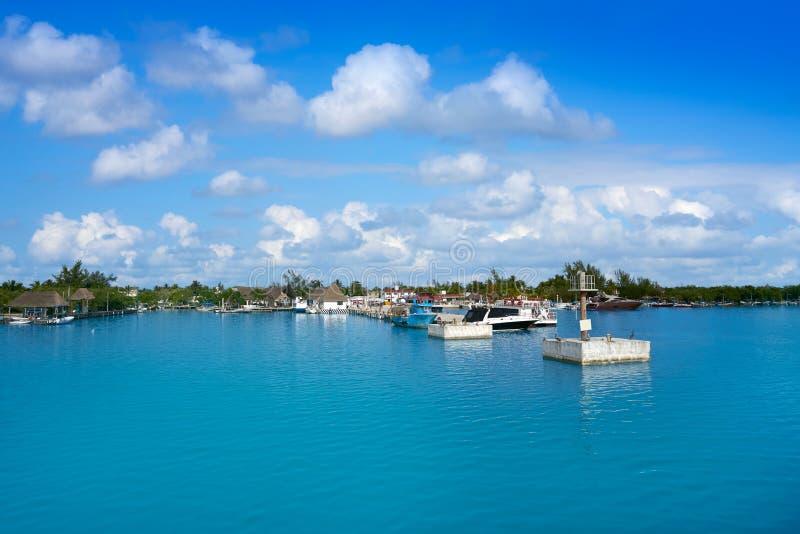 Holbox island port in Quintana Roo Mexico. Holbox island port in Quintana Roo of Mexico stock image