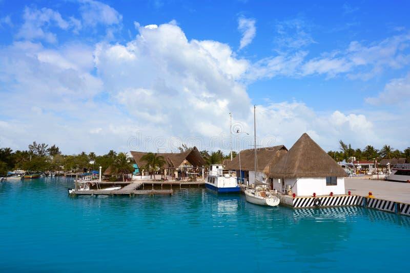 Holbox island port in Quintana Roo Mexico. Holbox island port in Quintana Roo of Mexico royalty free stock image