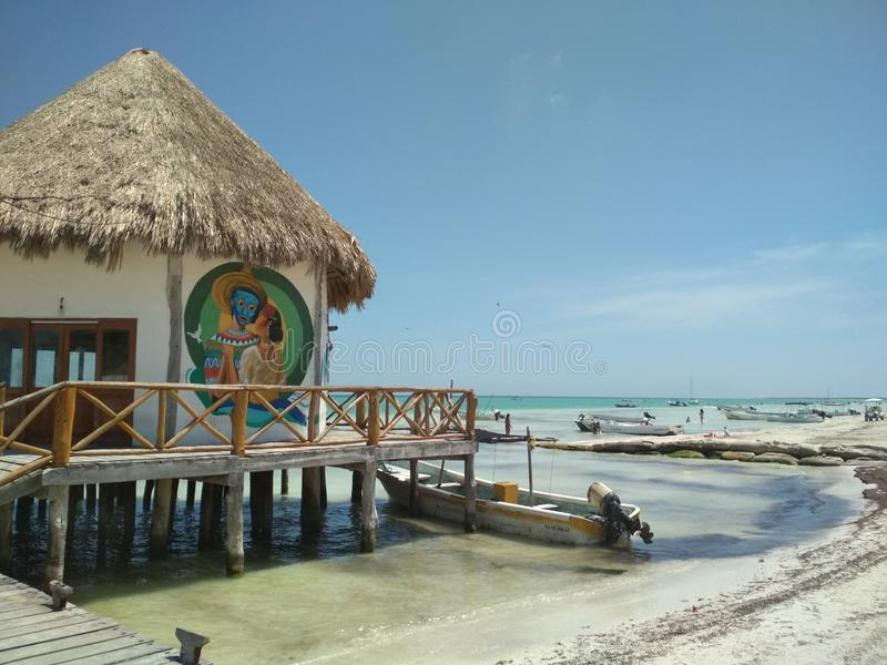 Holbox - on the coast stock photography