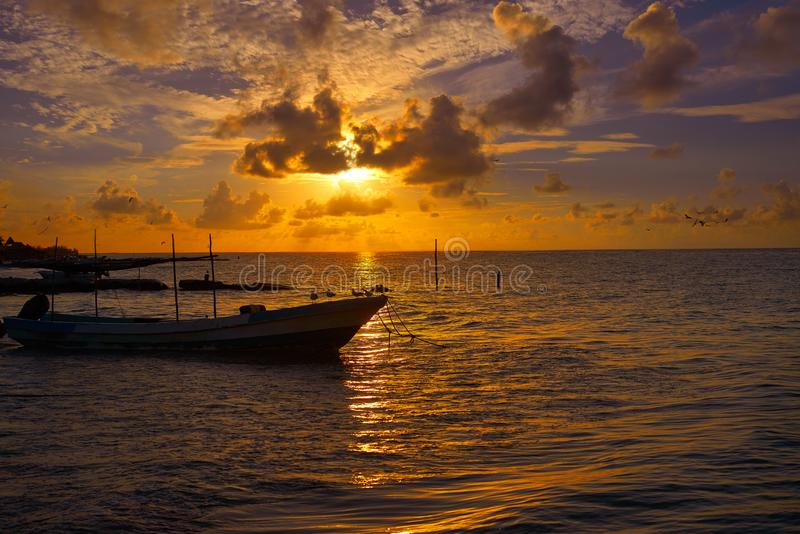 Holbox tropical Island in Quintana Roo. Mexico royalty free stock images