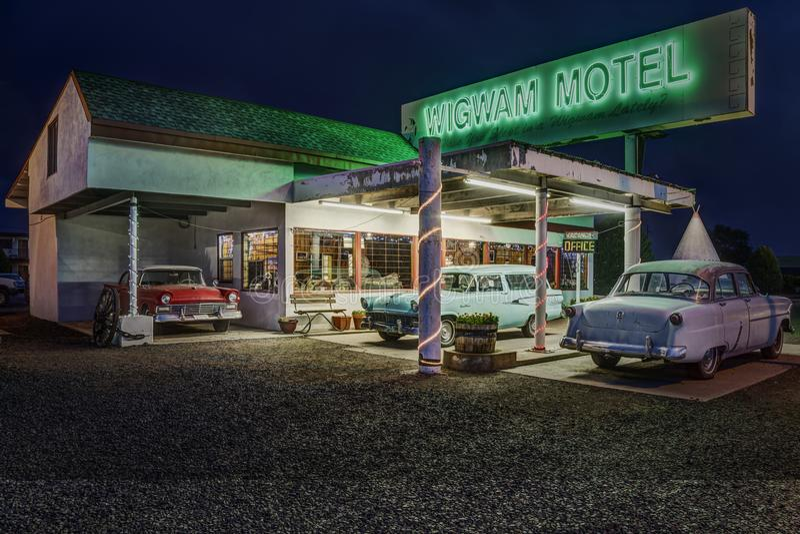 Wigwam Motel on Historic Route 66 in Holbrook, Arizona USA royalty free stock photos