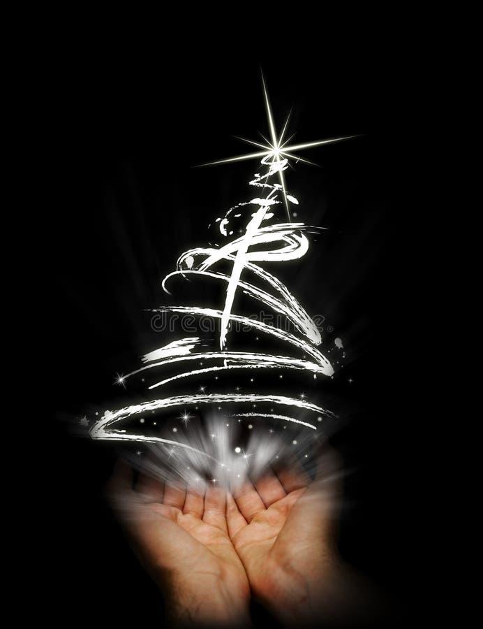 Hold abstract christmas tree stock illustration