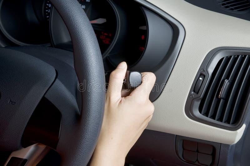 Hold Car Signal stock photos