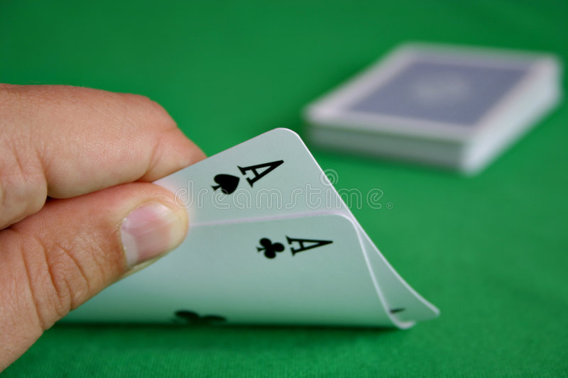 Download Hold'em: Pocket Rockets stock photo. Image of pair, games - 1218312