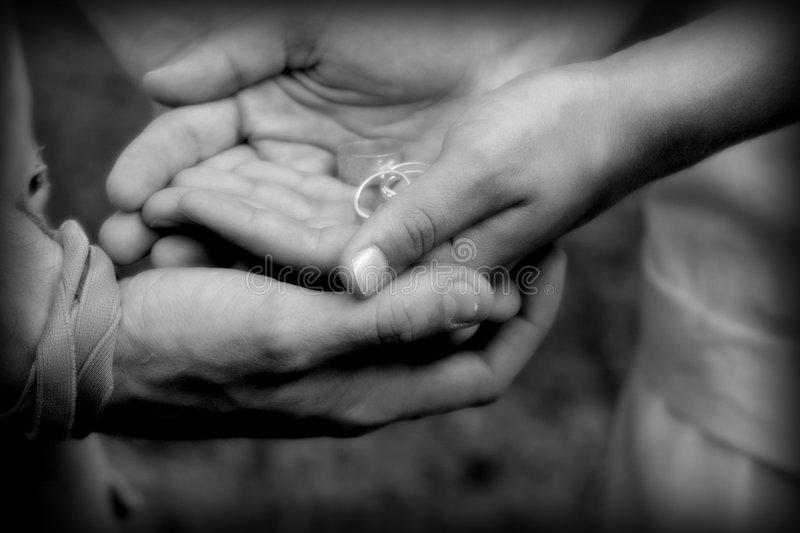 We hold the future in our hands royalty free stock photo