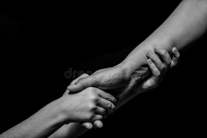 Hold hands royalty free stock photography
